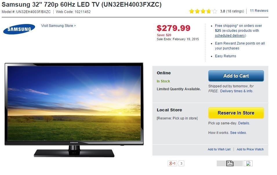 5 - Best Buy Samsung TV