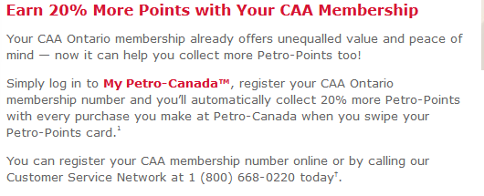 Petro Points Earning - CAA Membership
