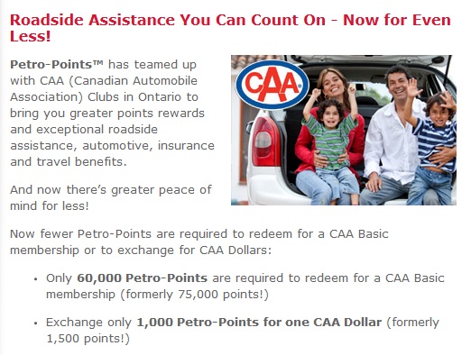 Petro Points Redeem - CAA