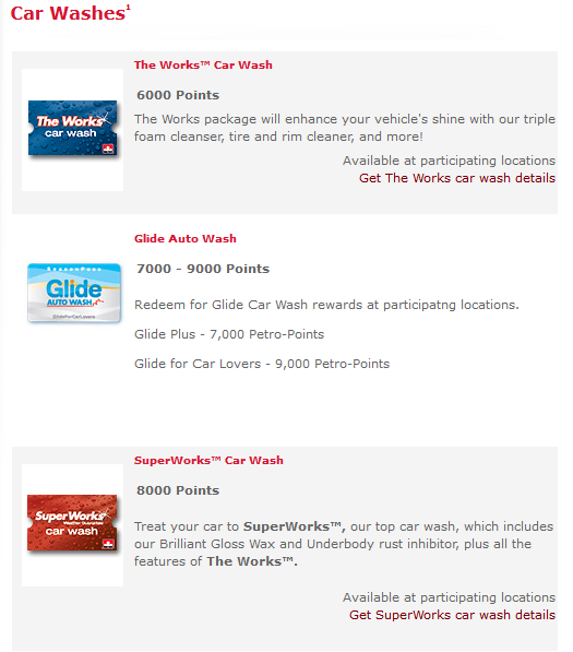 Petro Points - Redeem for Car Washes