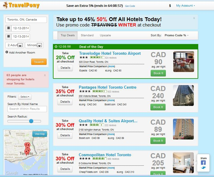 TravelPony 1 - Toronto in December Discounts