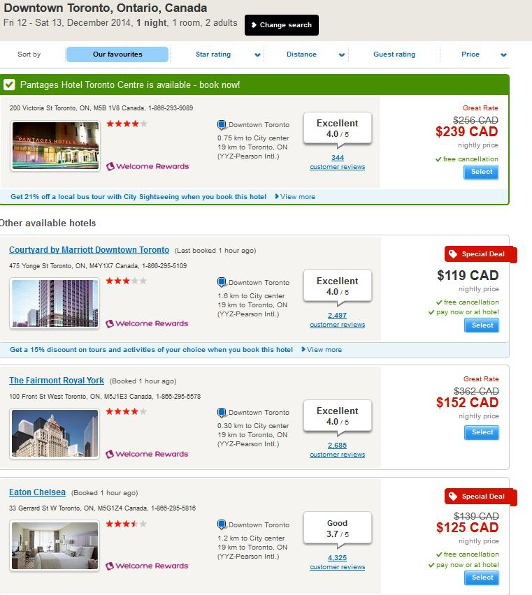 TravelPony 4 - Hotels.com other options