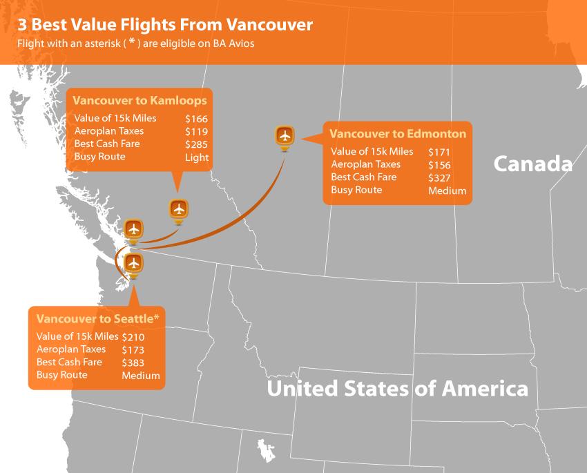 Vancouver Aeroplan Map