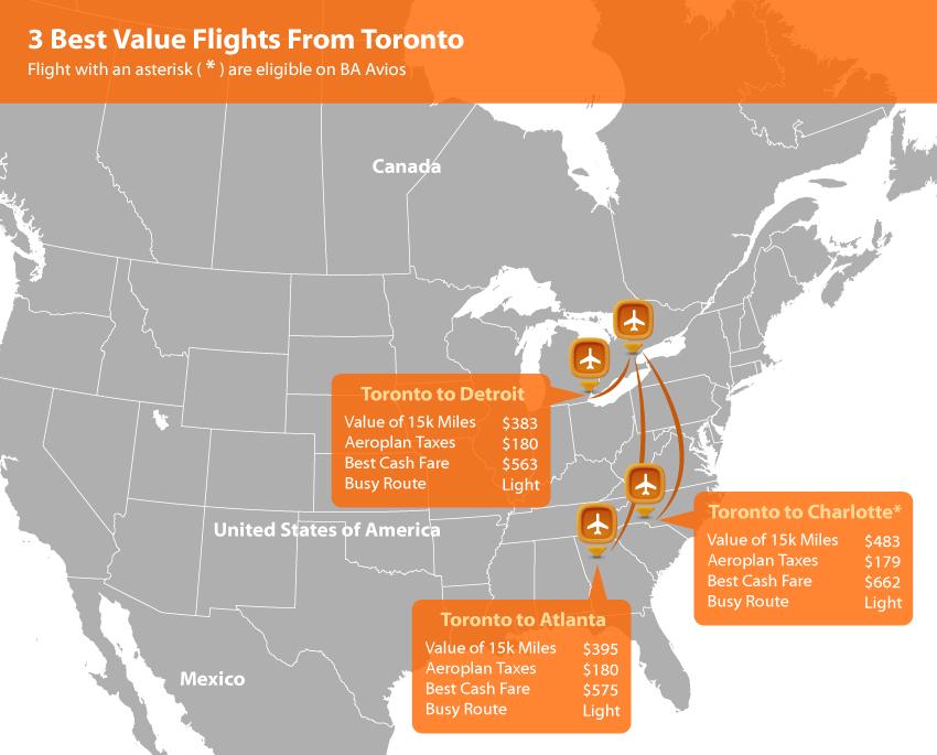 Toronto Aeroplan Map