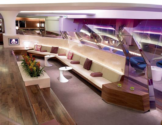 Virgin Airlines Lounge at Heathrow