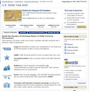 US Dollar Visa Gold
