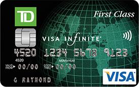 td first class travel visa infinite card review - Visa Travel Card
