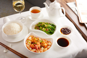 Cathay Pacific First Class Meals