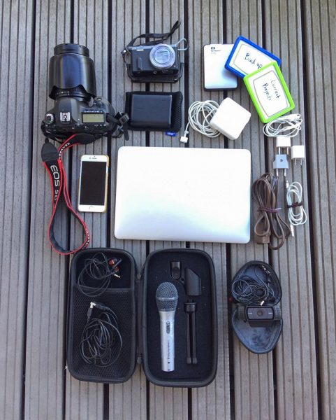 Ken's electronic travel gear