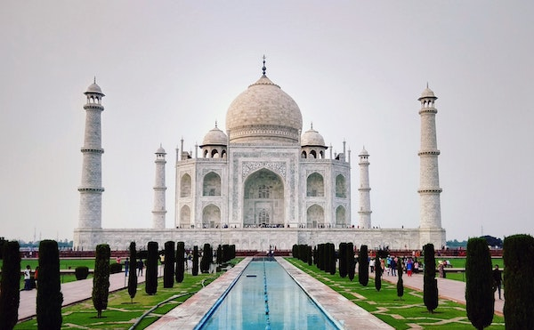 India's Taj Mahal is a typical destination for Canadians