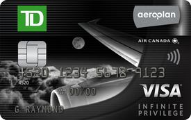 TD Aeroplan Visa Infinite Privilege - best credit card for flights Canada